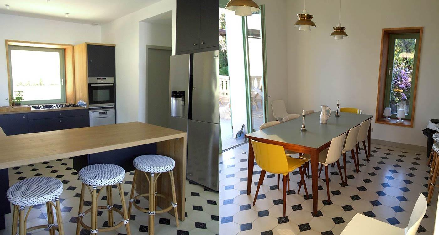La cuisine et la salle à manger Grande maison luxe à louer Rayol-Canadel-sur-Mer